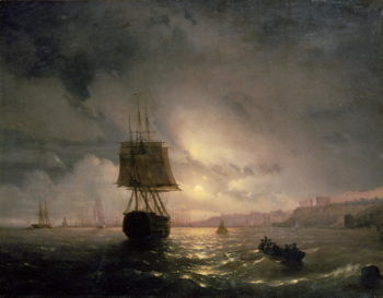 Harbour at Odessa on the Black Sea 1852   Ivan Konstantinovich Aivazovsky   oil painting