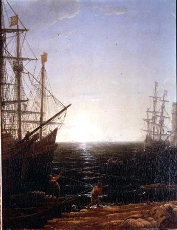 Harbour Scene | Claude Lorrain | oil painting