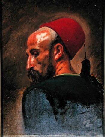 Head of an Arab in a Fez | Isidore Pils | oil painting