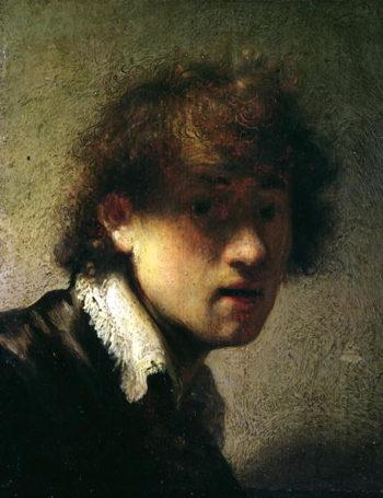 Head of a Young Man or Self Portrait 1629 | Rembrandt Harmensz van Rijn | oil painting