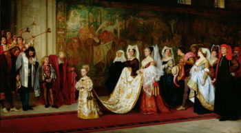 Her Most High Noble and Puissant Grace 1865 | Philip Hermogenes Calderon | oil painting