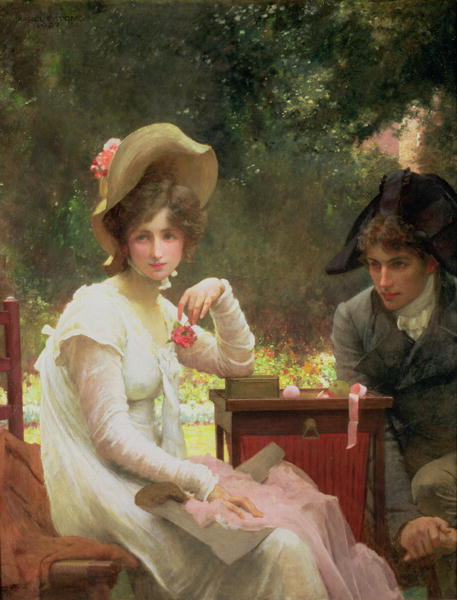 In Love 1907 | Marcus Stone | oil painting