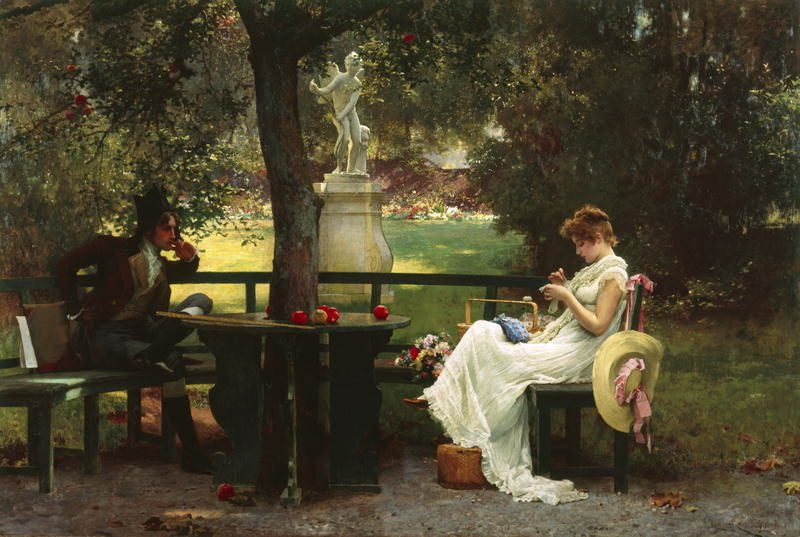 In Love   Marcus Stone   oil painting