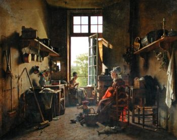 Interior of a Kitchen 1815 | Martin Drolling | oil painting
