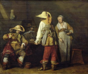 Interior of an Inn 1636 | Gerard ter Borch or Terborch | oil painting