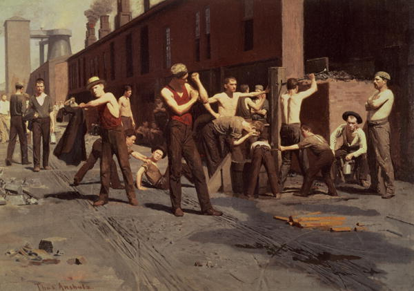 Iron Workers at Noontime 1882 | Thomas Pollock Anschutz | oil painting