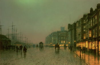Liverpool Docks from Wapping 1870 | John Atkinson Grimshaw | oil painting