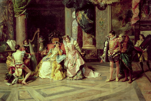 Galileo at the Court of Isabella 1878 | Cesare Auguste Detti | oil painting