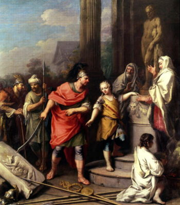 Hannibal swearing eternal enmity to Rome | Jacopo Amigoni | oil painting