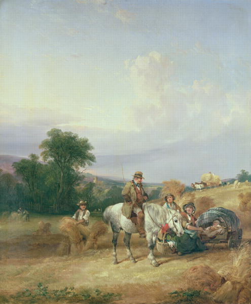 Harvesting Scene | William Snr Shayer | oil painting
