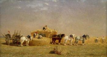 Haymaking 1858 | Jules Veyrassat | oil painting