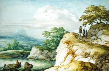 Hikers in the Highlands 1655 | Allaert van Everdingen | oil painting