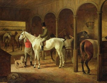 In a Stable | Franz Kruger | oil painting