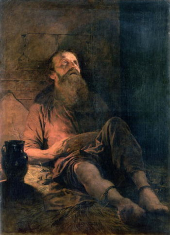 In Prison | Mihaly von Zichy | oil painting