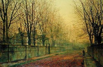 In the Golden Glow of Autumn 1884 | John Atkinson Grimshaw | oil painting