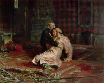 Ivan the Terrible and his Son on the 16th November 1581 1885 | Ilya Efimovich Repin | oil painting