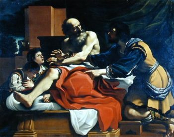 Jacob Ephraim and Manasseh | Guercino | oil painting