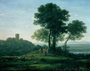 Jacob with Laban and his daughters | Claude Lorrain | oil painting