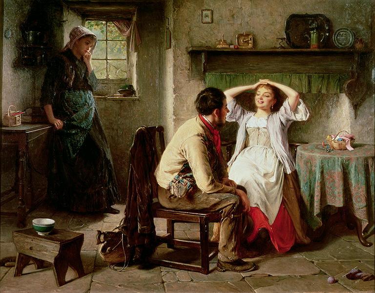 Jealousy and Flirtation | Haynes King | oil painting