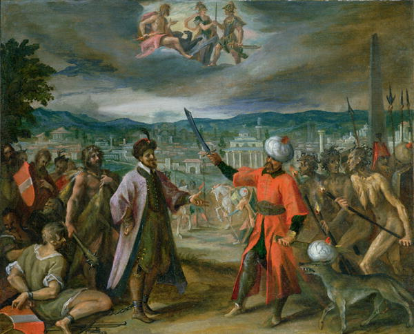 Allegory of the Turkish Wars The Declaration of War at Constantinople 1603 4 | Hans von Aachen | oil painting