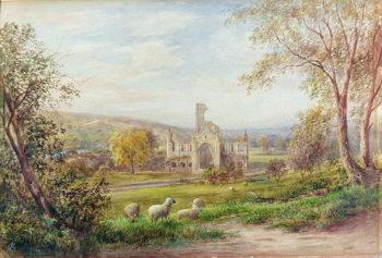 Kirkstall Abbey Leeds | George Alexander | oil painting
