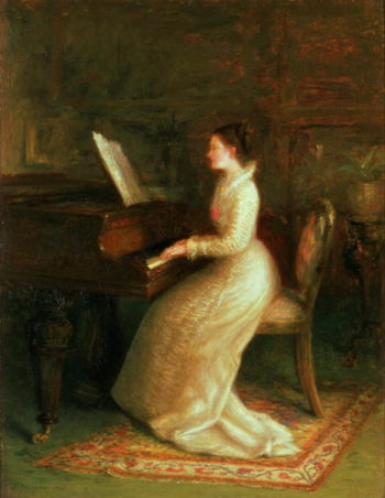 Lady at the Piano | Joseph Farquharson | oil painting