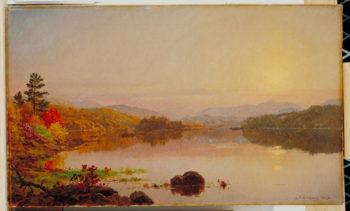 Lake Wawayanda 1876   Jasper Francis Cropsey   oil painting
