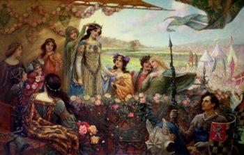 Lancelot and Guinevere   Herbert James Draper   oil painting
