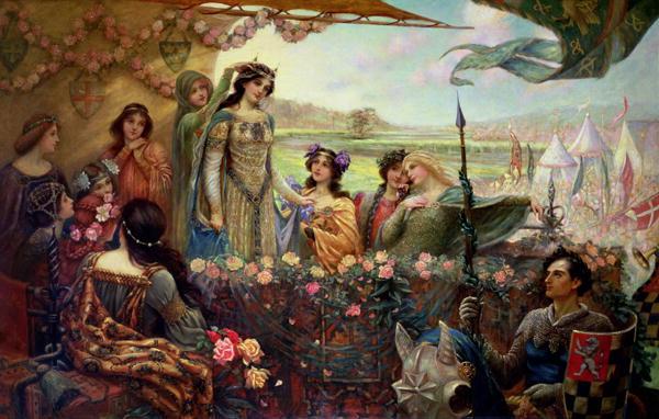 Lancelot and Guinevere | Herbert James Draper | oil painting