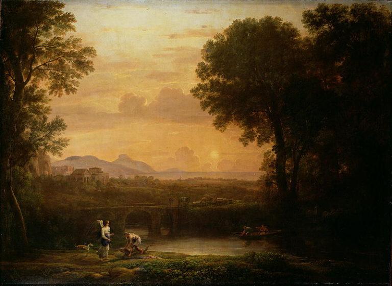 Landscape at Dusk | Claude Lorrain | oil painting