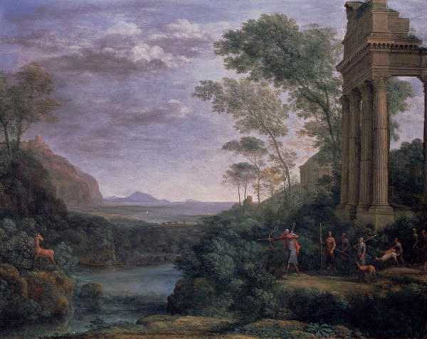 Landscape with Ascanius Shooting the Stag of Sylvia | Claude Lorrain | oil painting