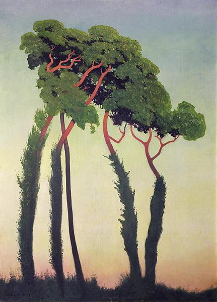 Landscape with Trees 1911   Felix Edouard Vallotton   oil painting