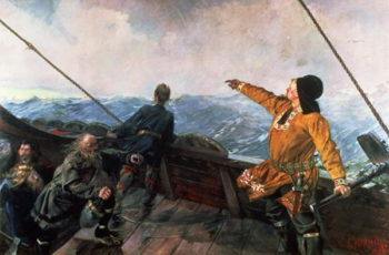 Leif Eriksson | Christian Krohg | oil painting