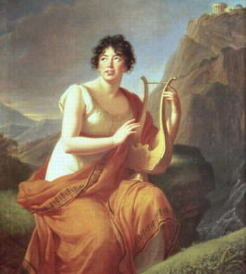 Madame de Stael as Corinne 1809 | Elisabeth Louise Vigee Lebrun | oil painting