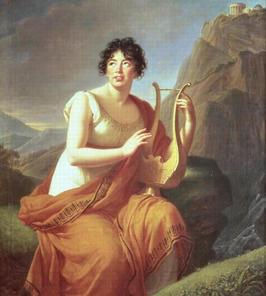 Madame de Stael as Corinne 1809   Elisabeth Louise Vigee Lebrun   oil painting