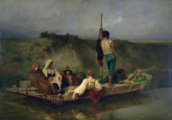 Malaria   Antoine Auguste Ernest Herbert or Hebert   oil painting