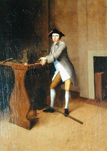 Man Working Lathe | Arthur Devis | oil painting