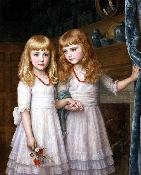 Marjorie and Lettice Wormald | Arthur Hughes | oil painting
