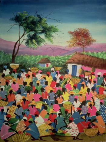 Market Scene   Jean Pierre   oil painting