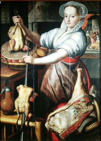 Martha Preparing Dinner for Jesus | Pieter Aertsen | oil painting