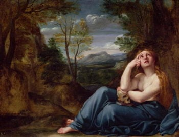 Mary Magdalene in a Landscape 1599 | Annibale Carracci | oil painting