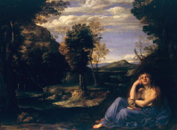 Mary Magdalene in the Desert | Annibale Carracci | oil painting