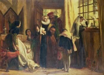 Mary Queen of Scots in Captivity 1871 | John Callcott Horsley | oil painting
