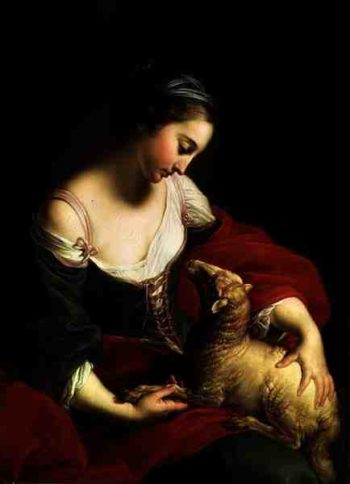 Meekness or Love | Pompeo Girolamo Batoni | oil painting