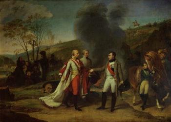 Meeting between Napoleon I | Baron Antoine Jean Gros | oil painting