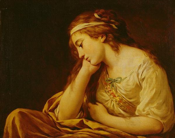 Melancholy | Louis Jean Francois I Lagrenee | oil painting