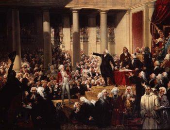 Mirabeau and Monsieur de Dreux Breze at the Assemblee des Deputes 23rd June 1789 | Joseph Desire Court | oil painting