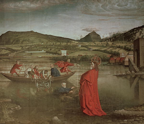 Miraculous Draught of Fishes from the Altarpiece of Cardinal Francois de Mies 1444 | Konrad Witz | oil painting