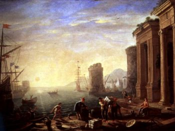 Morning at the Port 1640 | Claude Lorrain | oil painting