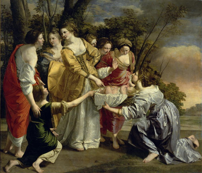Moses Rescued from the Nile 1630   Orazio Gentileschi   oil painting